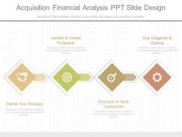 Custom Acquisition Financial Analysis Ppt Slide Design