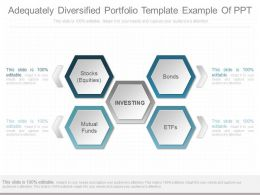 Custom Adequately Diversified Portfolio Template Example Of Ppt