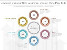 Custom Advanced Customer Care Department Diagram Powerpoint Slide