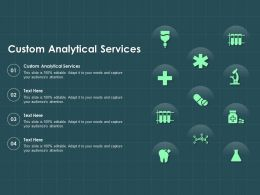 Custom Analytical Services Ppt Powerpoint Presentation Summary Rules