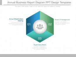 Custom Annual Business Report Diagram Ppt Design Templates