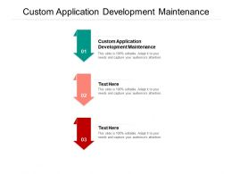 Custom Application Development Maintenance Ppt Powerpoint Presentation Pictures Portfolio Cpb