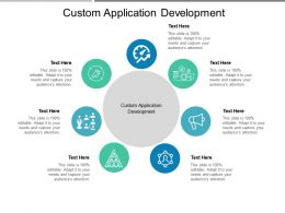 Custom Application Development Ppt Powerpoint Presentation Pictures Topics Cpb