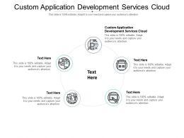 Custom Application Development Services Cloud Ppt Powerpoint Presentation Inspiration Graphics Cpb