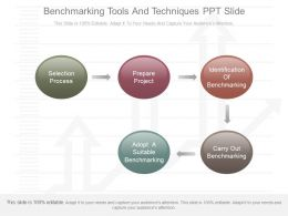 Custom Benchmarking Tools And Techniques Ppt Slide