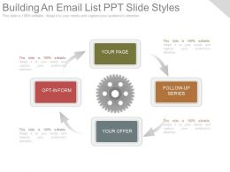 Custom Building An Email List Ppt Slide Styles
