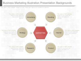 Custom Business Marketing Illustration Presentation Backgrounds