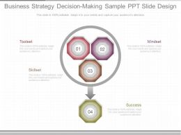 Custom Business Strategy Decision Making Sample Ppt Slide Design
