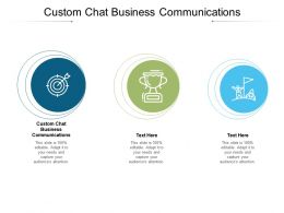 Custom Chat Business Communications Ppt Summary Background Designs Cpb