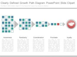 Custom Clearly Defined Growth Path Diagram Powerpoint Slide Clipart