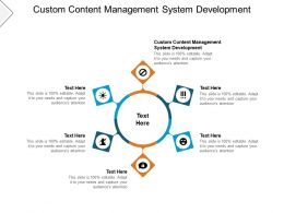 Custom Content Management System Development Ppt Powerpoint Layouts Cpb