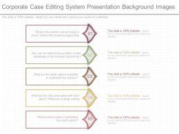 Custom Corporate Case Editing System Presentation Background Images