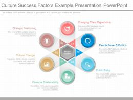 Custom Culture Success Factors Example Presentation Powerpoint
