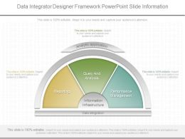 Custom Data Integrator Designer Framework Powerpoint Slide Information