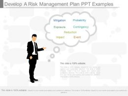 Custom Develop A Risk Management Plan Ppt Examples