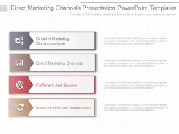 Custom Direct Marketing Channels Presentation Powerpoint Templates