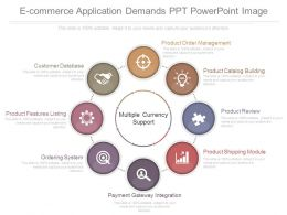 Custom E Commerce Application Demands Ppt Powerpoint Image