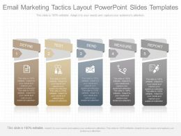 Custom Email Marketing Tactics Layout Powerpoint Slides Templates