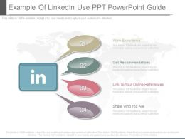 Custom Example Of Linkedin Use Ppt Powerpoint Guide