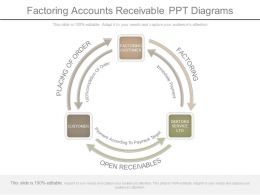 Custom Factoring Accounts Receivable Ppt Diagrams