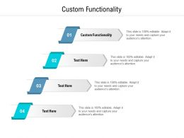 Custom Functionality Ppt Powerpoint Presentation Gallery Master Slide Cpb