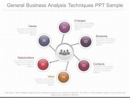 Custom General Business Analysis Techniques Ppt Sample