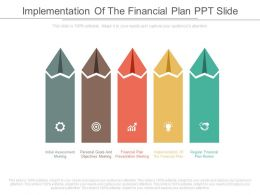 Custom Implementation Of The Financial Plan Ppt Slide