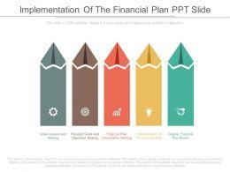 Custom Implementation Of The Financial Plan Ppt Slide
