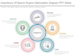 Custom Importance Of Search Engine Optimization Diagram Ppt Slides