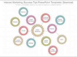 Custom Internet Marketing Success Tips Powerpoint Templates Download