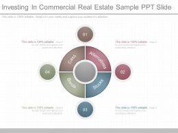Custom Investing In Commercial Real Estate Sample Ppt Slide