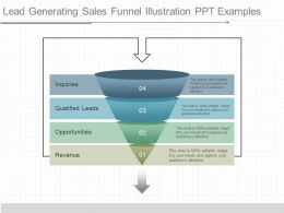 Custom Lead Generating Sales Funnel Illustration Ppt Examples