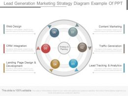 Custom Lead Generation Marketing Strategy Diagram Example Of Ppt