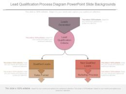 Custom Lead Qualification Process Diagram Powerpoint Slide Backgrounds