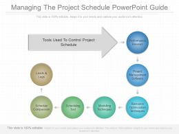 Custom Managing The Project Schedule Powerpoint Guide
