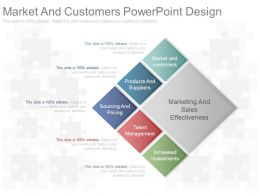 Custom Market And Customers Powerpoint Design