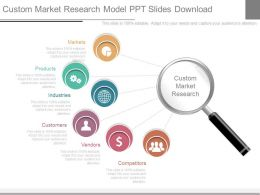Custom Market Research Model Ppt Slides Download