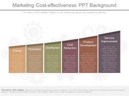 Custom Marketing Cost Effectiveness Ppt Background