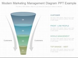 Custom Modern Marketing Management Diagram Ppt Example