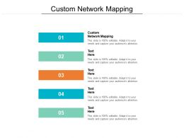 Custom Network Mapping Ppt Powerpoint Presentation Styles Brochure Cpb