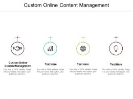 Custom Online Content Management Ppt Powerpoint Presentation File Display Cpb