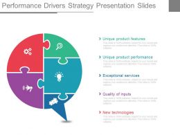 Custom Performance Drivers Strategy Presentation Slides