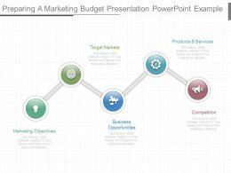 Custom Preparing A Marketing Budget Presentation Powerpoint Example