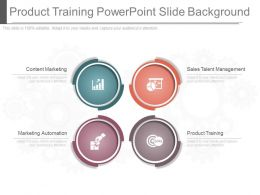 Custom Product Training Powerpoint Slide Background