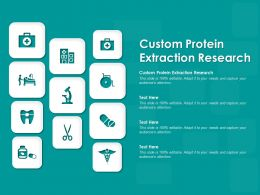 Custom Protein Extraction Research Ppt Powerpoint Presentation Icon Format Ideas