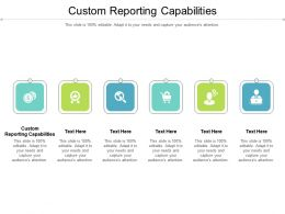 Custom Reporting Capabilities Ppt Powerpoint Presentation Gallery Master Slide Cpb