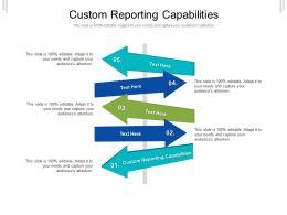 Custom Reporting Capabilities Ppt Powerpoint Presentation Summary Template Cpb