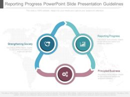 Custom Reporting Progress Powerpoint Slide Presentation Guidelines
