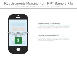 Custom Requirements Management Ppt Sample File
