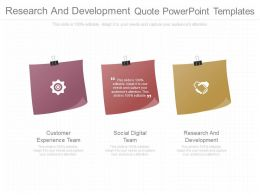Custom Research And Development Quote Powerpoint Templates
